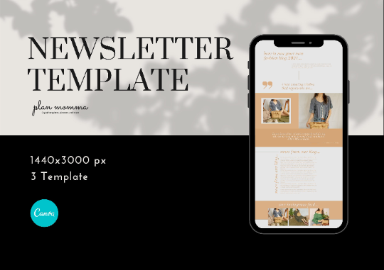 3 Email Marketing Newsletter Templates - Email Marketing, Newsletter Templates, Mailchimp Newsletter, Canva Templates, Email Template