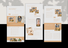 Load image into Gallery viewer, 3 Email Marketing Newsletter Templates - Email Marketing, Newsletter Templates, Mailchimp Newsletter, Canva Templates, Email Template