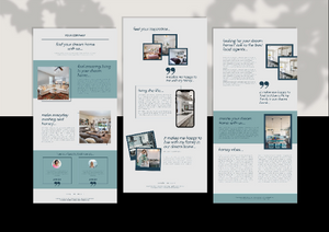 3 Realtor Mailchimp Newsletter Templates - Email Marketing, Newsletter Templates, Mailchimp Newsletter, Canva, Email Template