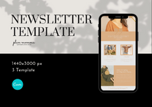 Load image into Gallery viewer, 3 Neutral Email Newsletter Templates - Email Marketing, Newsletter Templates, Mailchimp Newsletter, Canva Templates, Email Template