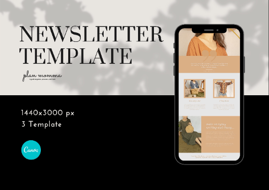 3 Neutral Email Newsletter Templates - Email Marketing, Newsletter Templates, Mailchimp Newsletter, Canva Templates, Email Template
