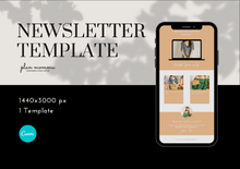 Load image into Gallery viewer, Email Marketing Template for Fashion - Email Newsletter Template, Newsletter Templates, Mailchimp Newsletter, Canva Template, Email Template