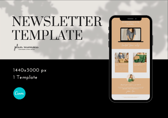 Email Marketing Template for Fashion - Email Newsletter Template, Newsletter Templates, Mailchimp Newsletter, Canva Template, Email Template