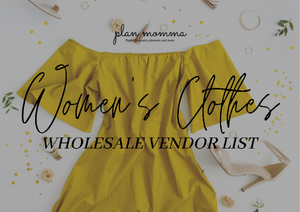 Clothing Vendor List 30 US Based Vendors | Trendy Wholesale Clothing Vendors | Wholesale Women Clothes Vendors Resellers | Instant Download