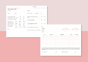 Eyelash Extensions Client Record Card Form - Instant Download, Boutique Templates, Canva Template, Editable Form, Lash Extension Form