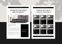 Load image into Gallery viewer, Real Estate Email Templates for Mailchimp - Editable Realtor Newsletter | Real Estate Marketing | Realtor Branding | Email Newsletter