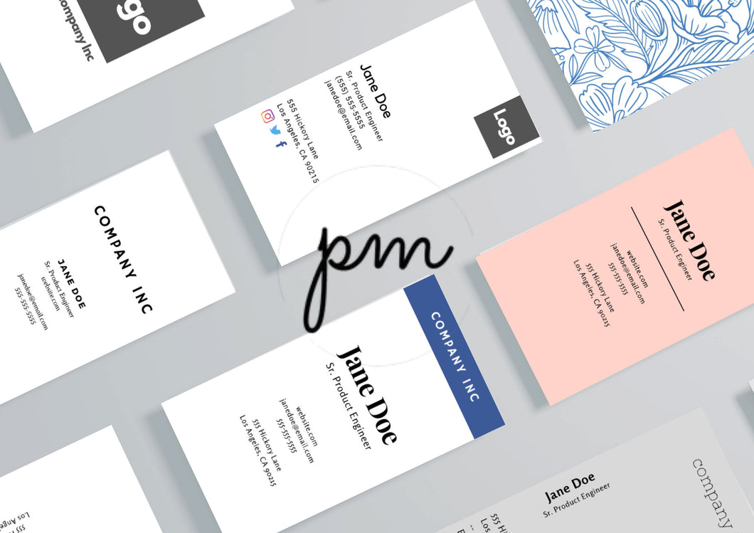 Vertical Business Card Bundle - Instant Download, Printable Canva Template, Printable Business Card, Custom Business Card, DIY Business Card