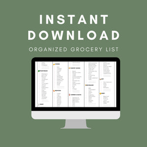 Master Grocery List Printable Shopping List - INSTANT DOWNLOAD