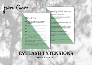 Eyelash Extension Minimalist Forms Bundle - Consultation, Consent Form, Client Record Card, Aftercare, FAQs, Appointment and Income Sheet