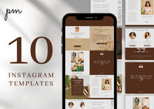 Load image into Gallery viewer, 10 Neutral Instagram Post Templates - Instagram Post Template, Bloggers, Coaches, Writers, Lifestyle, Engagement Post, Canva Templates