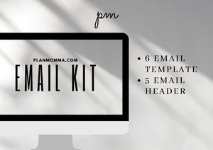 Real Estate Email Kit - Modern Templates, Email Template, Email Header, Real Estate Marketing Tools, Realtor Kit, Instant Download, Canva