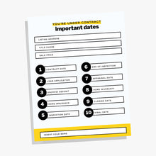 Load image into Gallery viewer, Real Estate Agent Important Dates Bundle, Important Dates Template, Real Estate Marketing, Realtor, Printable Real Estate Template, Canva