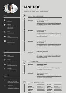3 Pack Resume Template word instant download - resume templates, CV Template, Cover Letter, Professional resume, Creative Resume cv