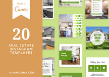 Load image into Gallery viewer, Editable Real Estate Instagram Template - Real Estate Agent Branding Posts, Modern Real Estate Design, Instagram Templates