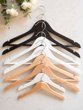 Personalised Engraved Hangers With Silver Plated Hooks - Set Of Nine