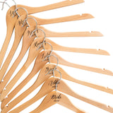 Personalised Engraved Hangers With Silver Plated Hooks - Set Of Eight
