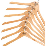 Personalised Engraved Hangers With Silver Plated Hooks - Set Of Seven