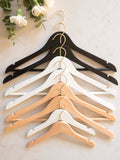 Personalised Hangers with Gold Hooks - Set Of Nine