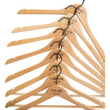 Personalised Hangers with Black Hooks - Set Of Eight