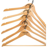 Personalised Hangers with Black Hooks - Set Of Six