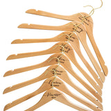 Personalised Hangers with Gold Hooks - Set Of Eight