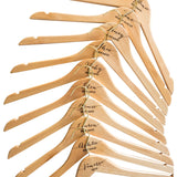 Personalised Hangers with Gold Hooks - Set Of Ten