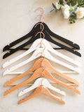 Personalised Hangers with Rose Gold Hooks - Set Of Nine
