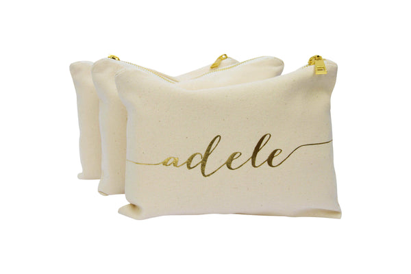 Personalised Makeup Bag - Choose a Font Style