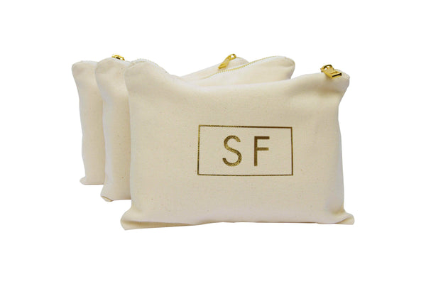 Personalised Makeup Bag - Monogram Atticus Lettering