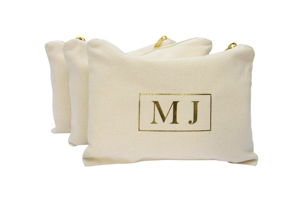 Personalised Makeup Bag - Monogram Hamish Lettering