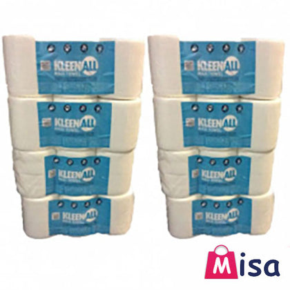 42 rolls white Centre feed Rolls Embossed 2ply Wiper Paper Towel Kitchen Roll