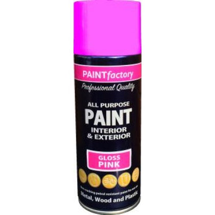 Spray Paint Gloss Pink Interior Exterior