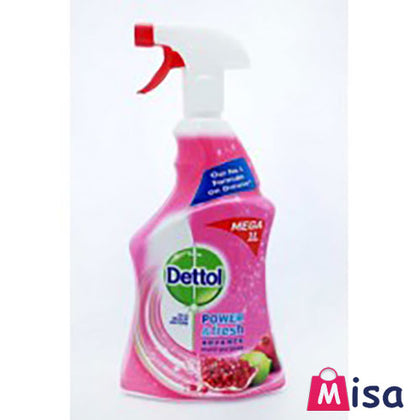Dettol Antibacterial Power Fresh Multi-Purpose Spray 6 X 1L Pomegranate