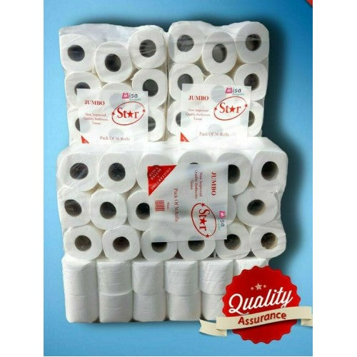 144 Toilet Rolls Jumbo 2 Ply 200 Sheets 4 Cases (Free Shipping)