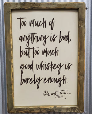 Mark Twain Whiskey Art - #1
