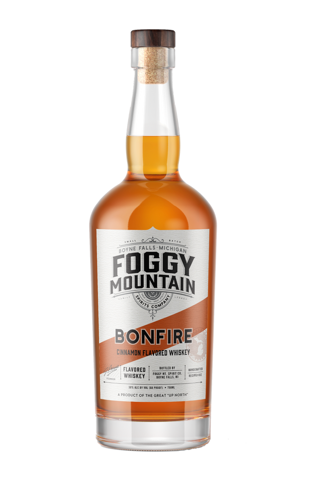 Foggy Mt. Bonfire Cinnamon Flavored Whiskey
