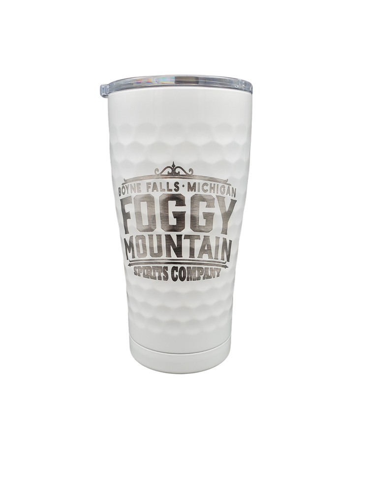 Load image into Gallery viewer, 20 oz. Hammered White Tumbler - Laser Engraved