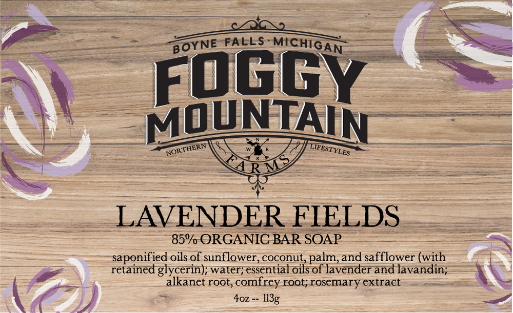 LAVENDER FIELDS BAR SOAP - 4oz