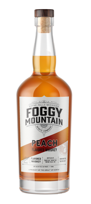 Foggy Mt. Peach Flavored Whiskey