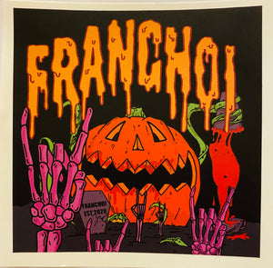 LIMITED EDITION- Spooky FranChoi Pumpkin Sticker