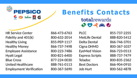Benefits Contact Card - Version 2