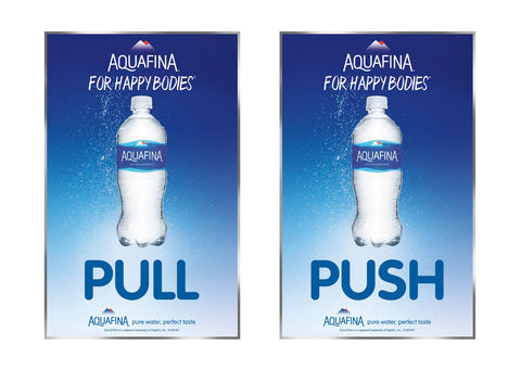 Aquafina Color Coded Push Pulls