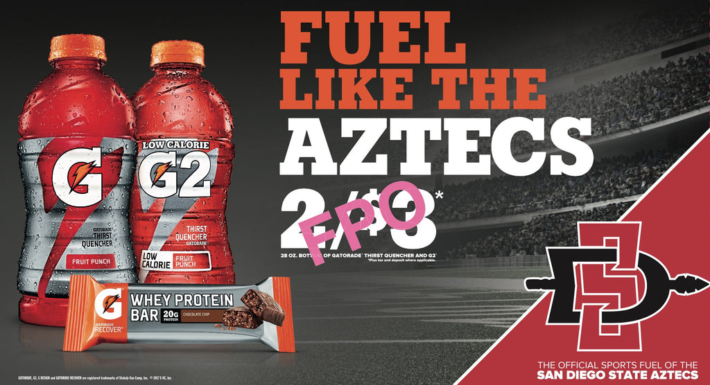 Gatorade NCAA San Diego - 28oz  with Whey Protein Bar (2017)