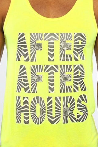 "Image of ""After After Hours"" Tank - Yellow"