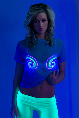 Image of Light-up Bra - Black Hypnotize