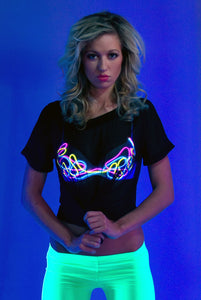 Light-up Bra - Black Squiggly