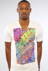 Abstract Art V-neck