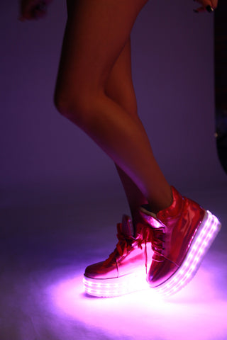 Image of Pink Hologram LED Light-up Shoes