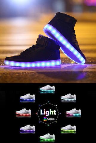 Image of Light-up Midtop Shoes – Black