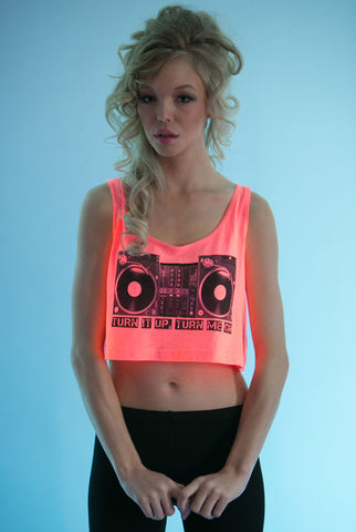 Turntable Crop Top Pink